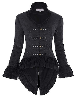Women's gothic steampunk tailcoat with back lacing