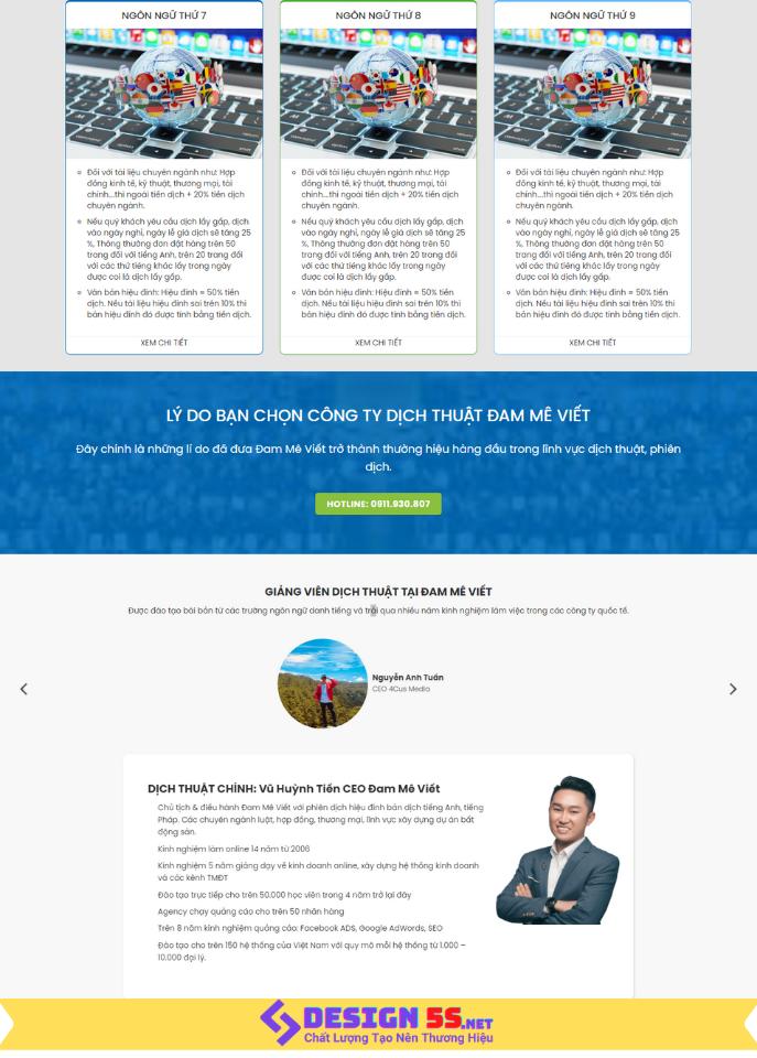 Template Blogspot Landing Page Dịch Vụ Dịch Thuật VSM66 - Ảnh 2