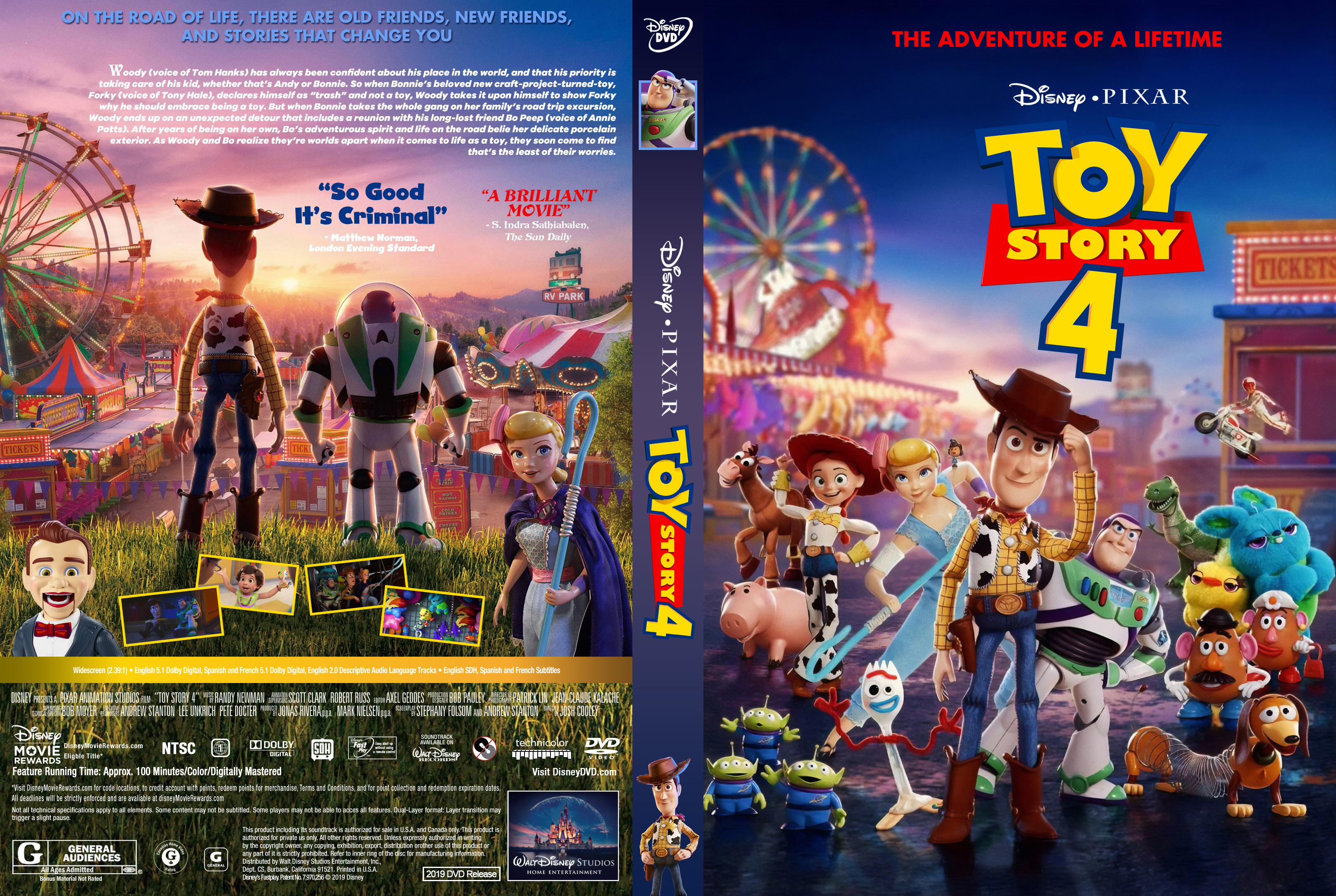 Toy Story 4 Movie Dvd Cover