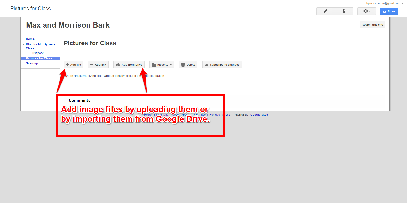 Free Technology for Teachers: Use Google Sites File Cabinet