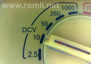 Cara mengukur tegangan menggunakan AVO-Meter