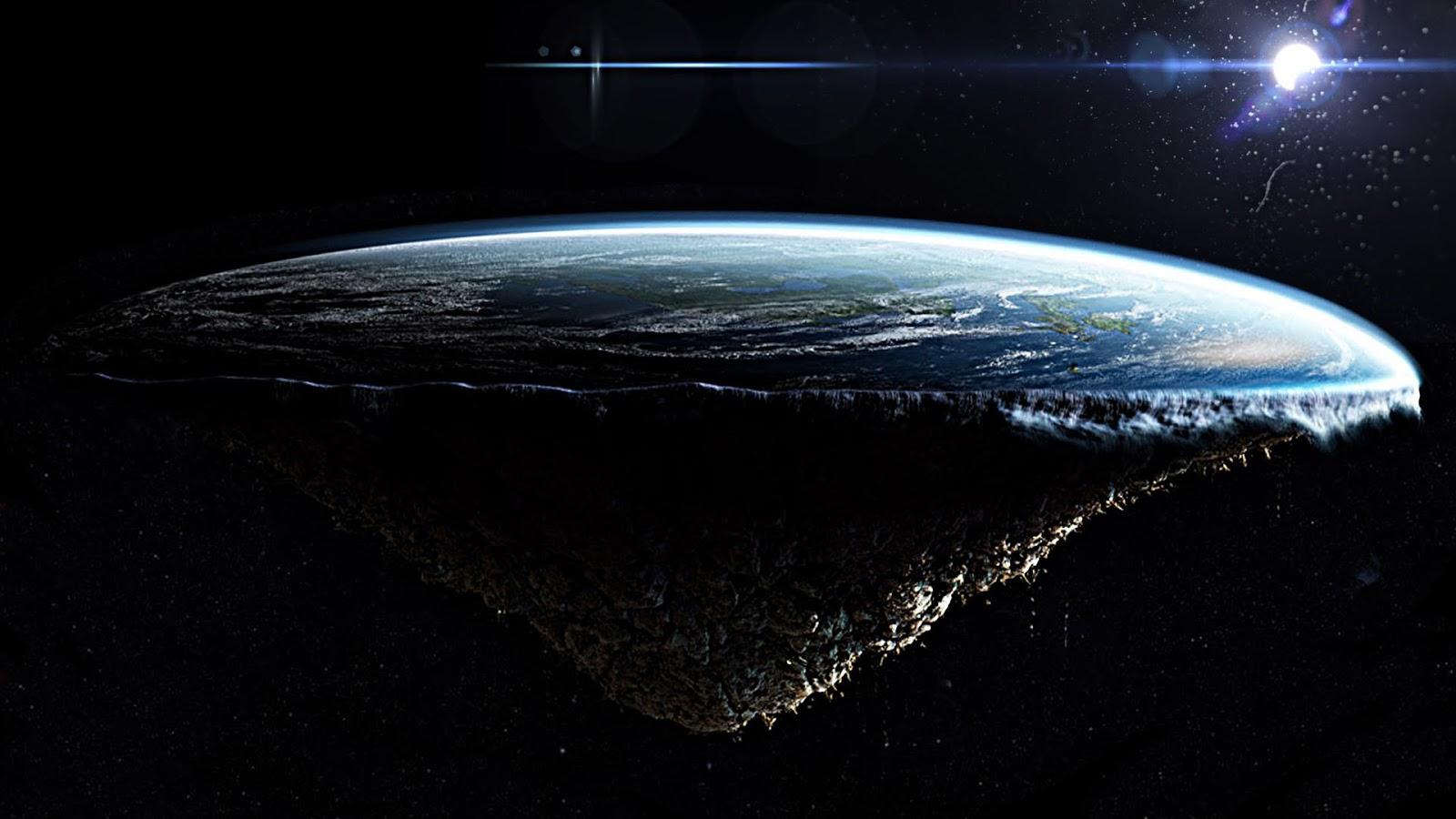 peran terhadap teori bumi bulat