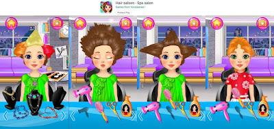 game perempuan salon kecantikan