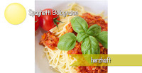 Speghetti Bolognese Rezept mit frischen Zutaten