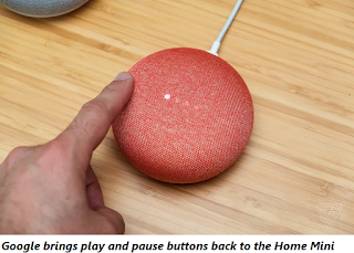 Google brings play and pause buttons back to the Mini Home
