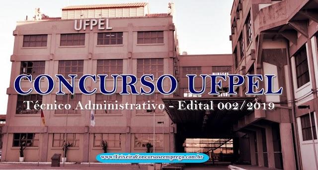 UFPel Concurso Técnico-administrativos: Edital e inscrição 2019