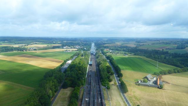 Vista de la region des de la torre del Plan Incliné de Ronquières