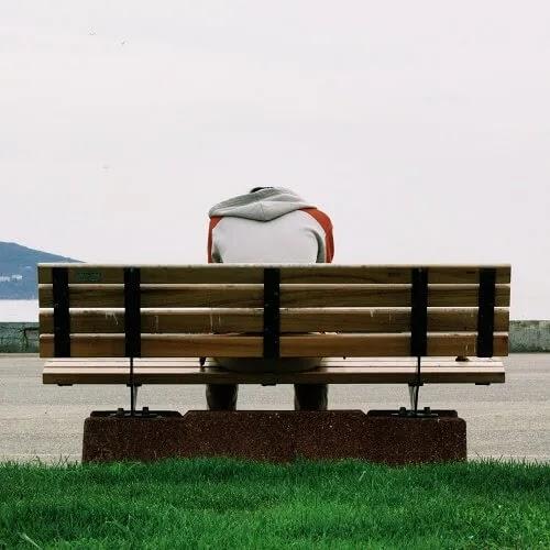 sad boy sitting alone DP for boys