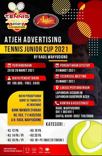 Turnamen Tenis: Atjeh Advertising Tennis Junior Cup 2021  By Ragil Wahyudiono