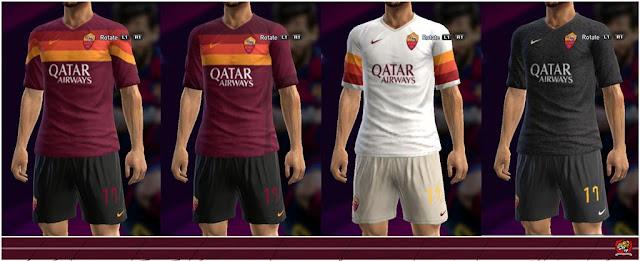 AS Roma 2020-2021 Kits Leaked PES 2013