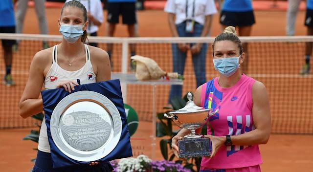 Masters 1000 de Roma femenino 2020 - Pliskova se retira y primer título para Simona Halep