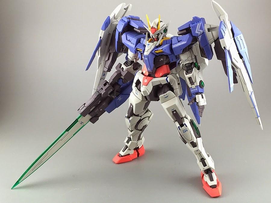 Painted Build Rg 1 144 00 Raiser Quot Detailed Quot Gundam Kits