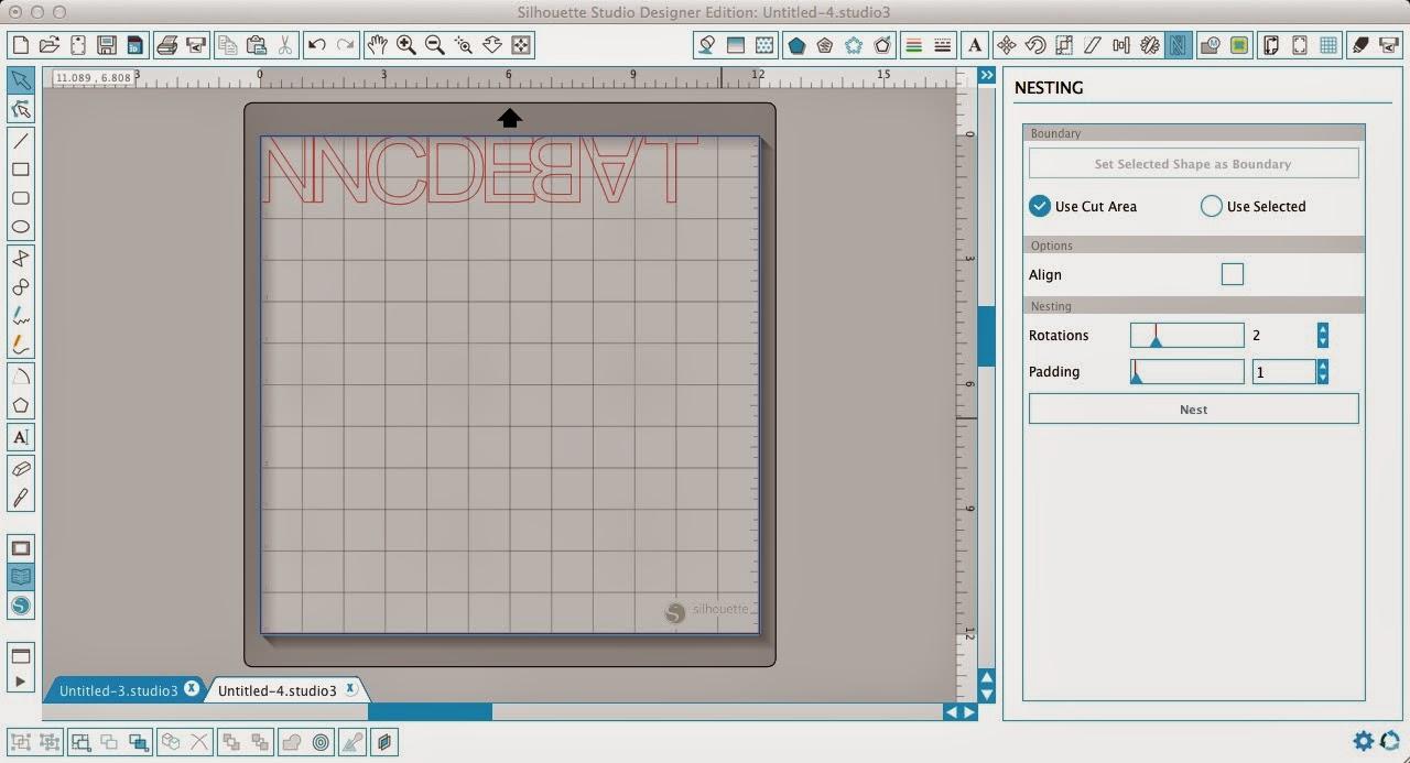Silhouette Studio, Silhouette tutorial, nest, scrap vinyl