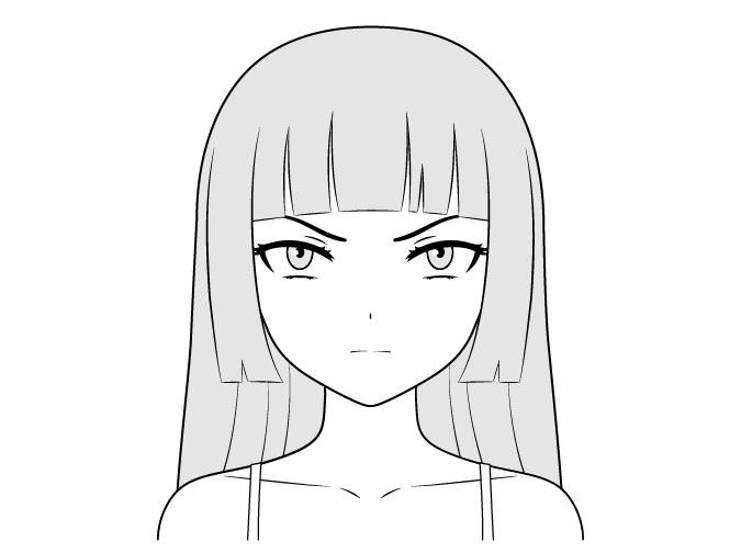 Gambar wajah gadis penjahat anime
