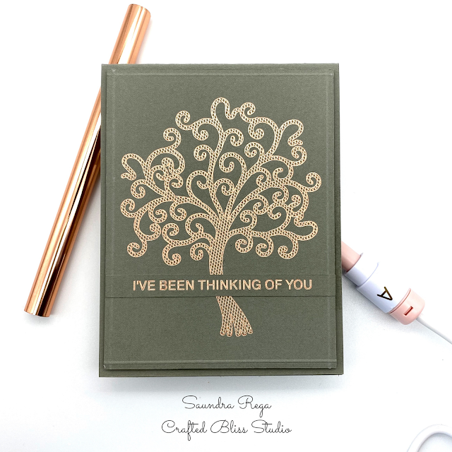 Handmade card featuring Jill Cameron designs using We R Memory Keepers Foil Quill