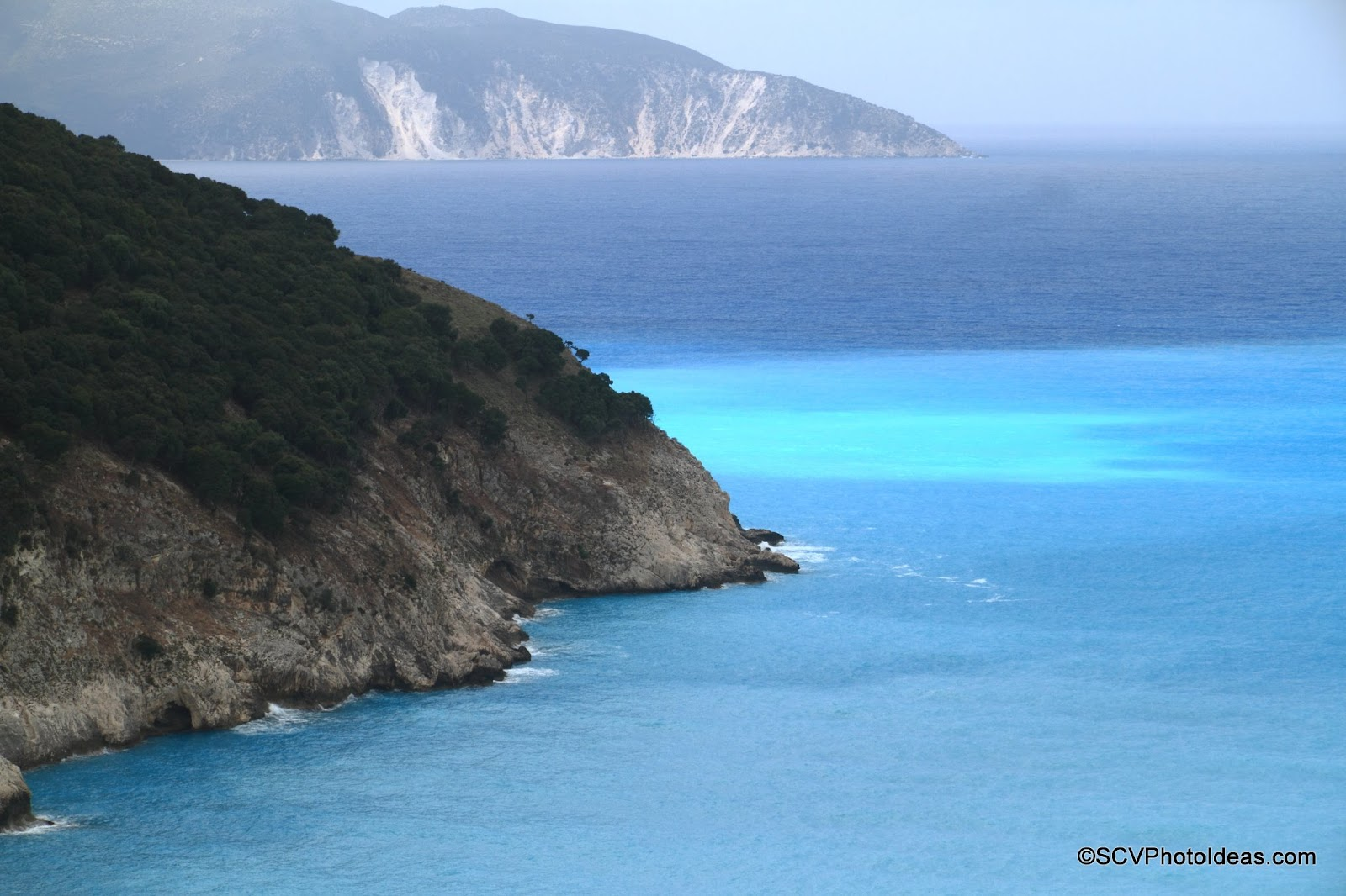 Myrtos Beach, Cephalonia color changes