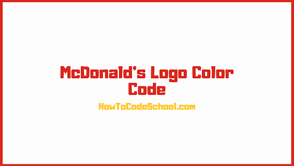 McDonalds Logo Color Code