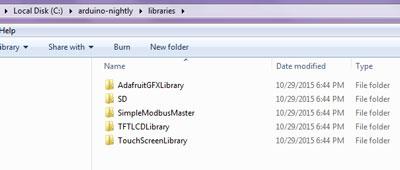 Arduino libraries of PLC - Mini LCD Touch Screen - Arduino