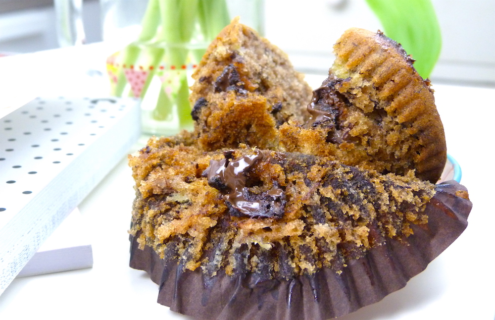 an image of Free From / Vegan Banana and Dark Chocolate Muffin Recipe