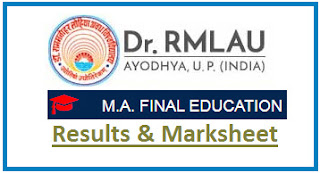 Avadh University MA Education Final Result 2021