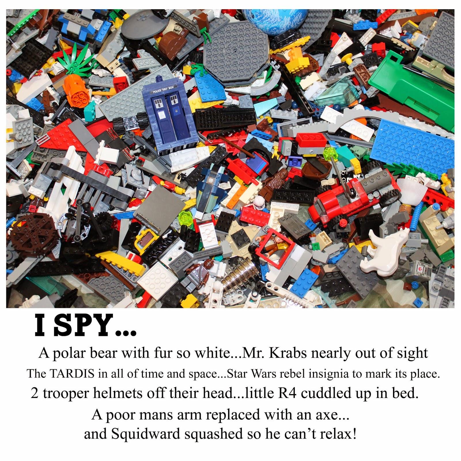 Doodlecraft Lego I Spy With My Little Eye Book