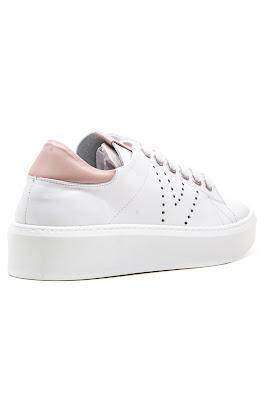 hakiki deri beyaz bayan spor ayakkabı