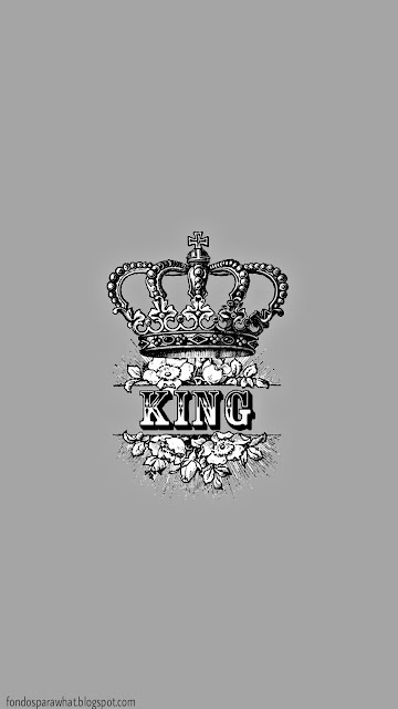 Fondo de Pantalla King en color Gris