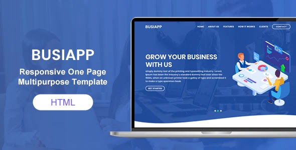 Multipurpose one and multipage bootstrap template