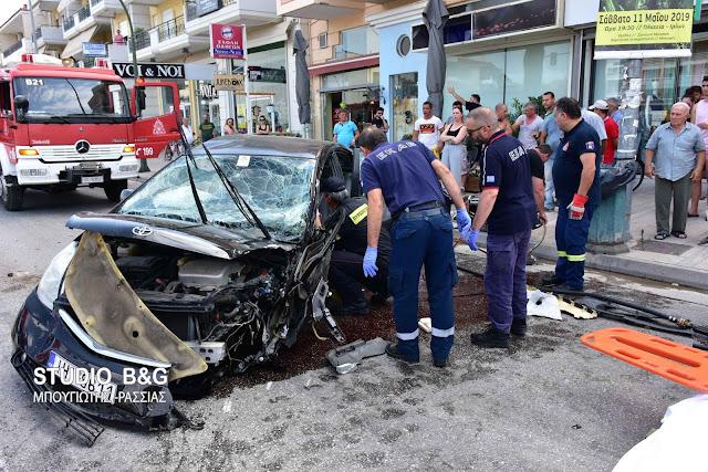 Σφοδρές συγκρούσεις από ανεξέλεγκτο αυτοκίνητο στο Ναύπλιο - Απίστευτες εικόνες (βίντεο)