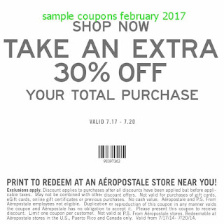 free Aeropostale coupons for february 2017