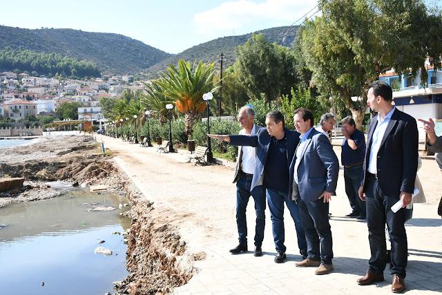 Αυτοψία Γιώργου Δέδε στις περιοχές του Δήμου Άργους Μυκηνών που επλήγησαν από τις πλημμύρες