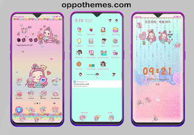 Kawaii Girl Theme For Oppo & Realme Smartphone