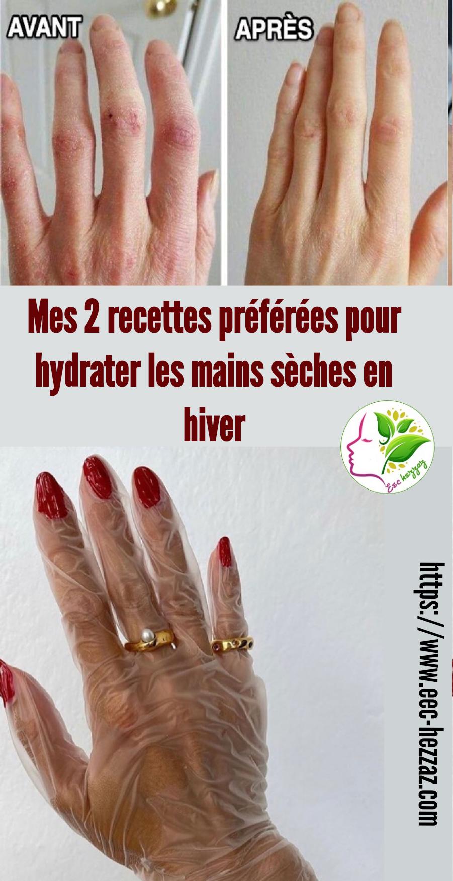 Mes 2 recettes préférées pour hydrater les mains sèches en hiver