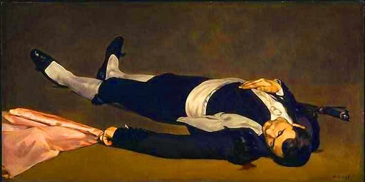 O Toreador Morto - Pinturas impressionistas pintadas por Édouard Manet
