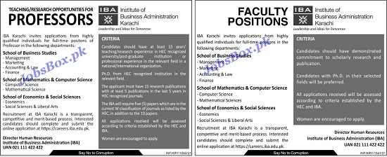 institute-of-business-administration-iba-jobs-2021-karachi-aply-online