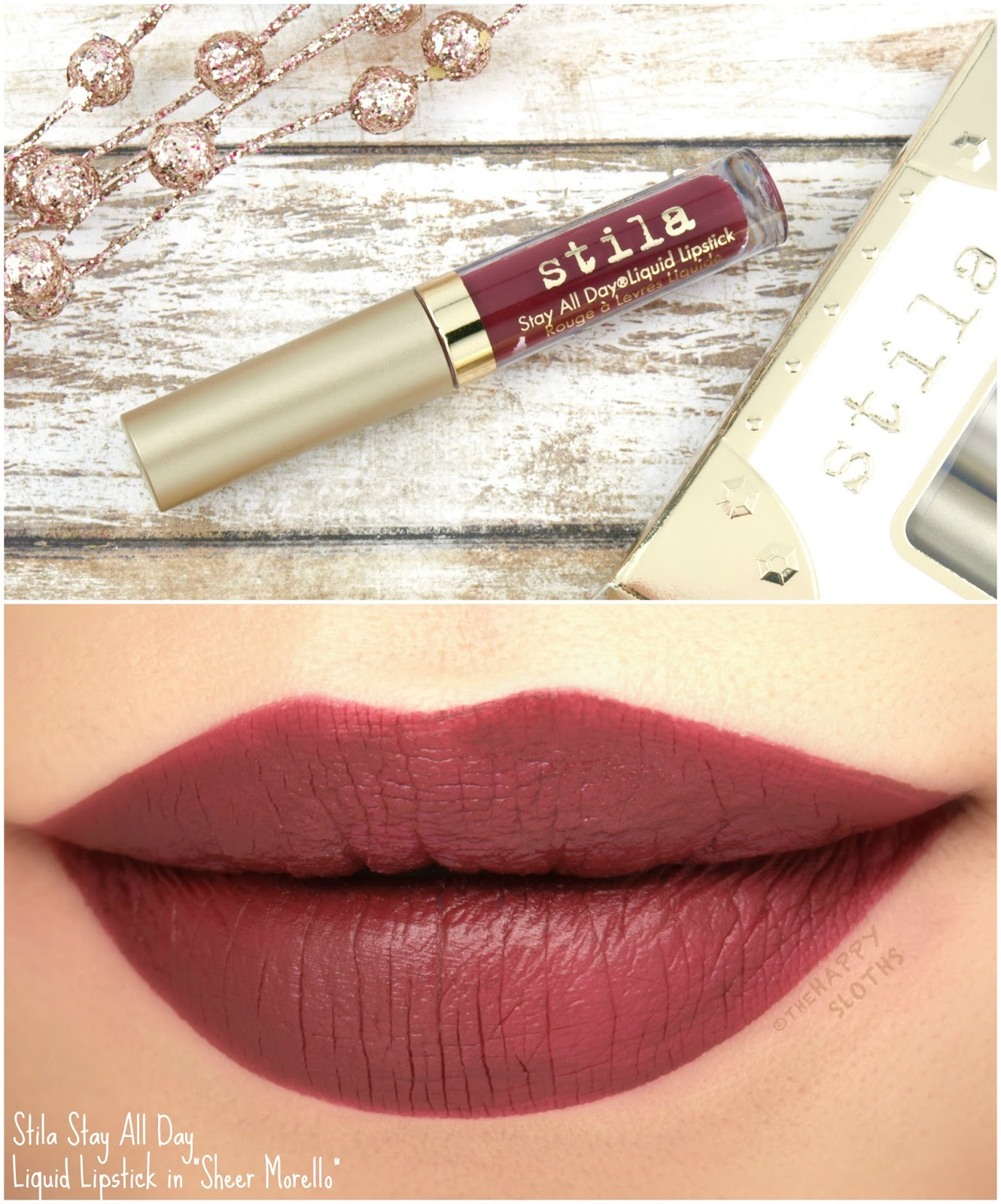 "Stila Stay All Day Liquid Lipstick in ""Sheer Morello"": Review and Swatches"