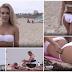 A reação das pessoas na praia à mancha de cocó no biquíni de uma rapariga que lhes pede ajuda