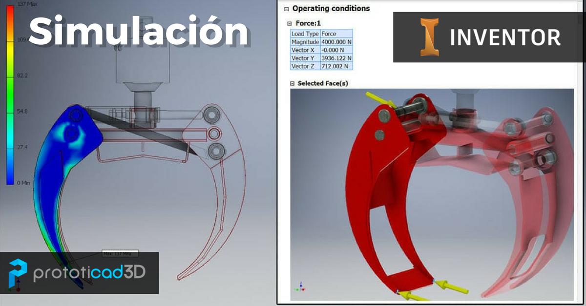 Creación de una simulación con Autodesk Inventor