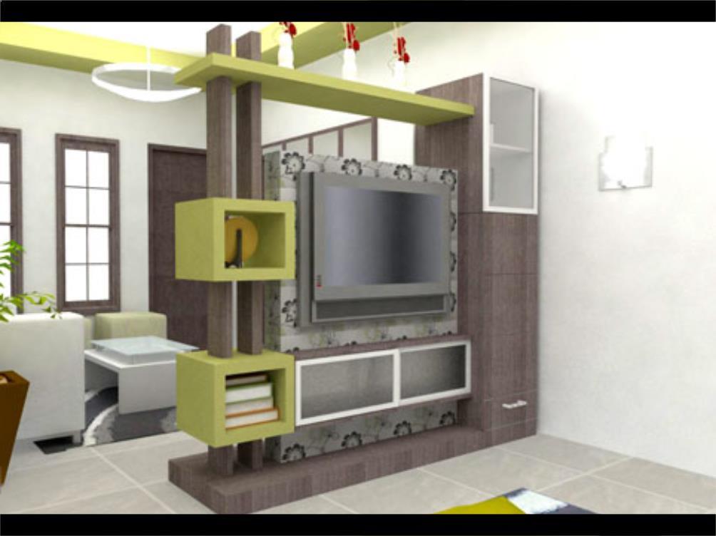 penyekat ruang tamu dan ruang keluarga