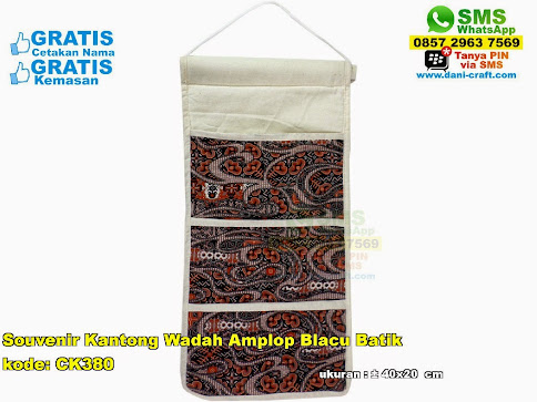 Souvenir Kantong Wadah Amplop Blacu Batik