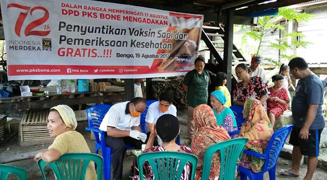 PKS Bone Adakan Layanan Kesehatan dan Suntik Vaksin Sapi Gratis