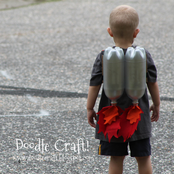Jet Packs upcycled craft diy tutorial made from recycled 2 liter bottles and felt
