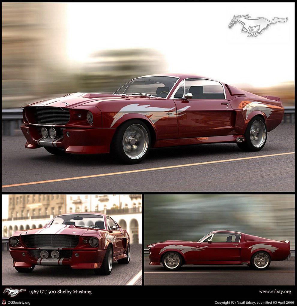 Modelo 3D Mustang