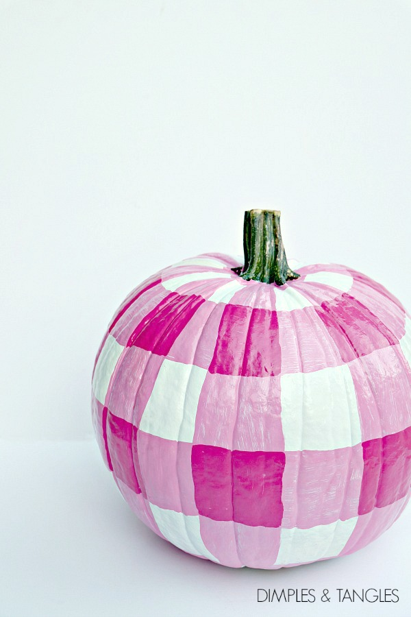 gingham painted pumpkin tutorial painted pumpkin tips and design