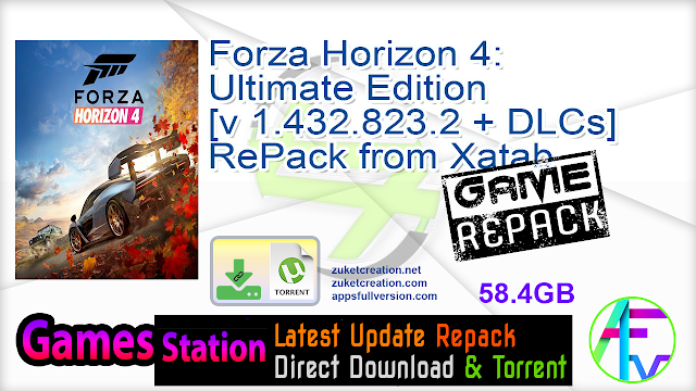 Forza Horizon 4 Ultimate Edition [v 1.432.823.2 + DLCs] RePack from Xatab