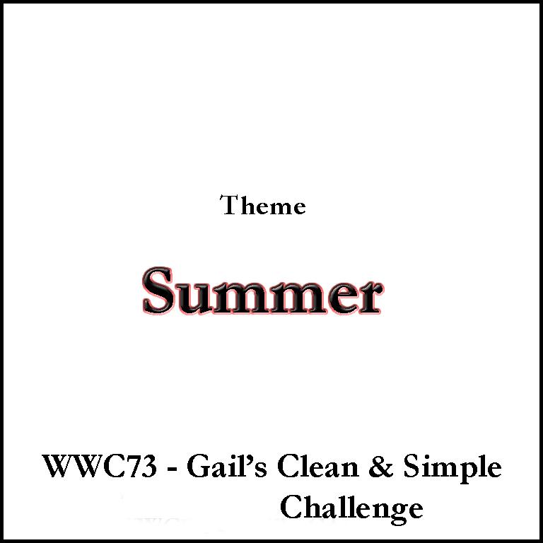 Watercooler Wednesday WWC73 - Gail\u0027s Clean  Simple \