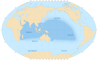 Pacific Centered Map