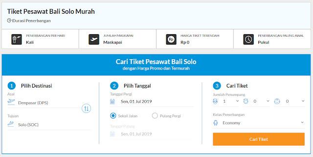Tips Dapatkan Tiket Pesawat Bali Solo Murah Tanpa Promo