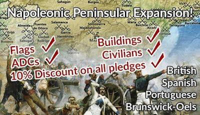 Peninsular Napoleonics Not-Kickstarter, Going Well from Pendraken Miniatures