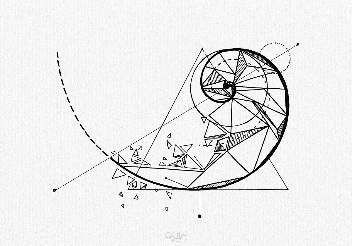 Fibonacci Spiral Tattoo: Fibonacci Spiral Tattoo Design